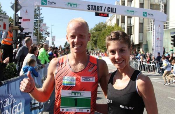 Med več kot 800 tekači na Novomeškem polmaratonu najhitrejši Mitja Krevs