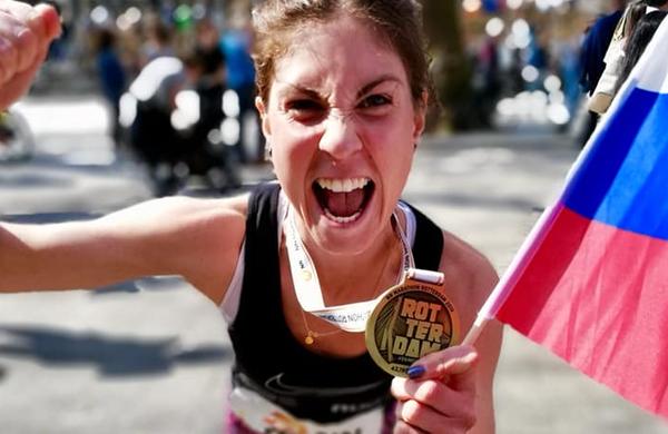 Neja Kršinar v Rotterdamu odtekla svoj prvi maraton in navdušila