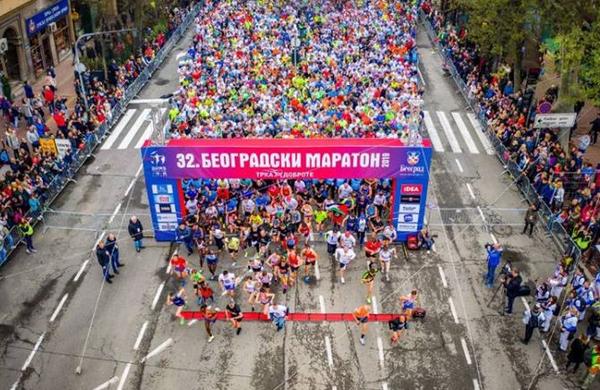 32. Beograjski maraton: Beograd preplavili tekači, med njimi veliko Slovencev