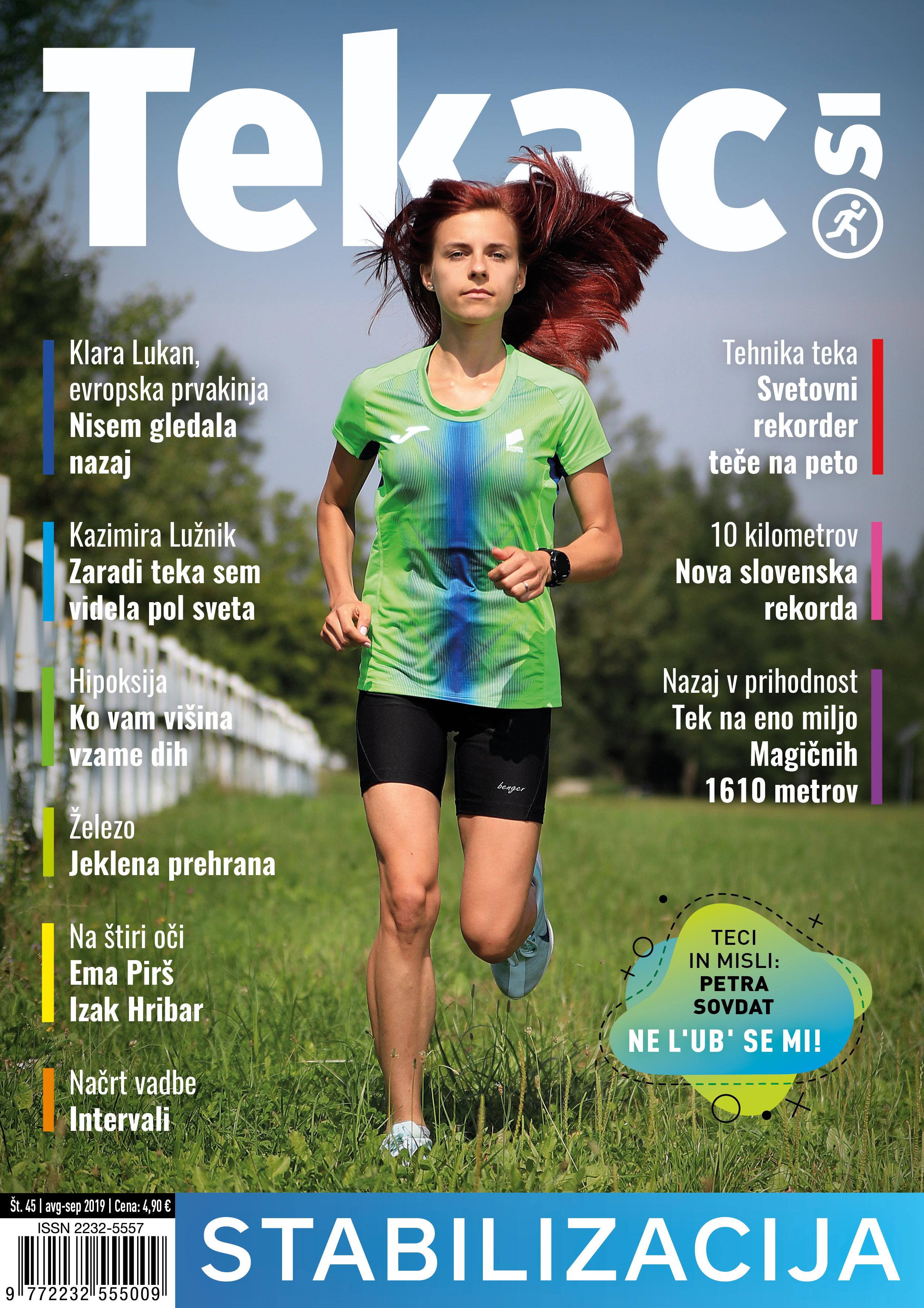 Zdravo tekmovanje - revija Tekac.si 45 avg-sep