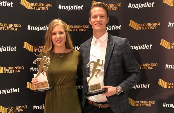 Maja Mihalinec in Luka Janežič Naj atleta leta 2019