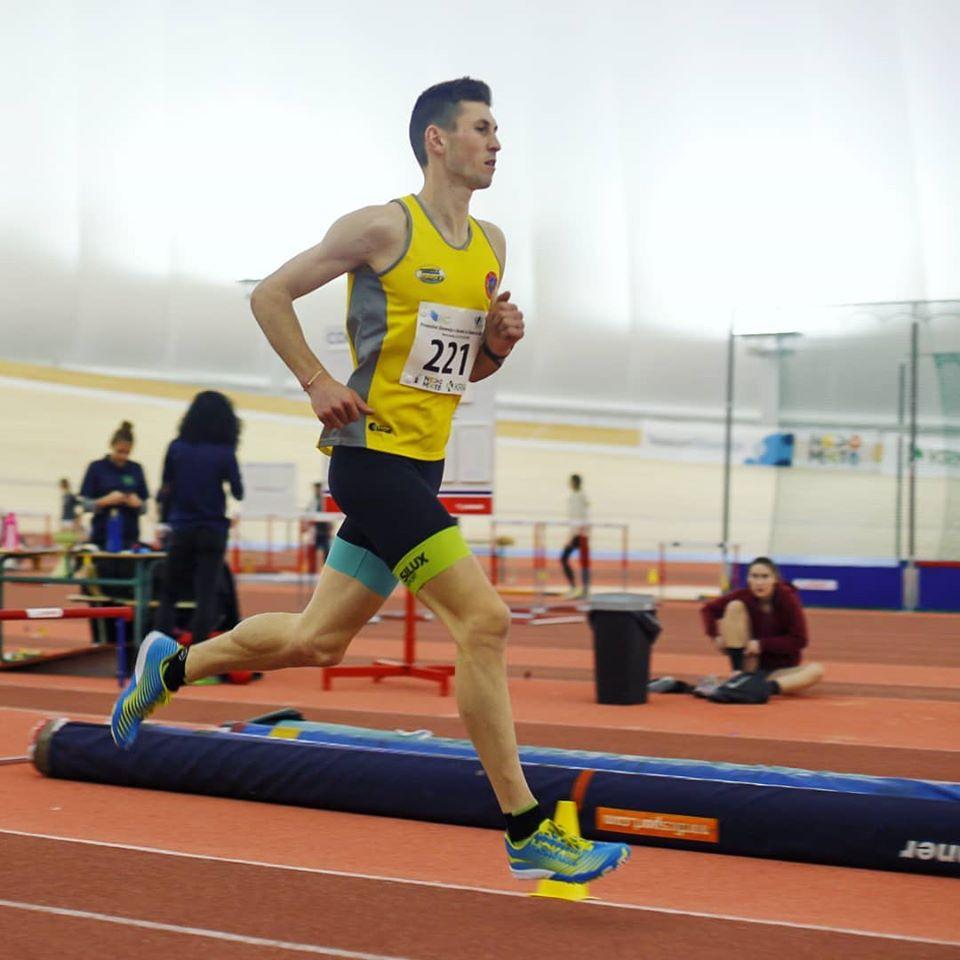 Timotej Bečan je nov državni prvak na 3000 m v dvorani