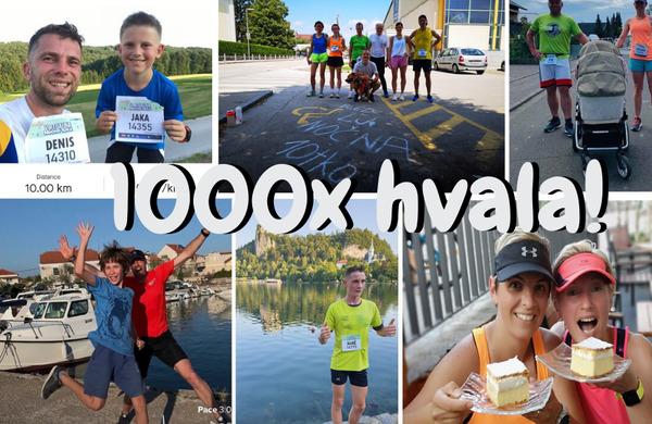 Na virtualni Nočni 10ki sodelovala množica tekačev z vse Slovenije