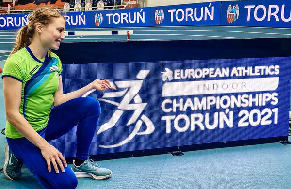 Diskvalifikacija slovenske tekačice na evropskem dvoranskem prvenstvu
