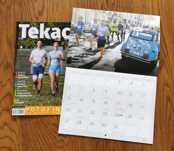 Revija Tekac.si številka 47 s koledarjem 2020